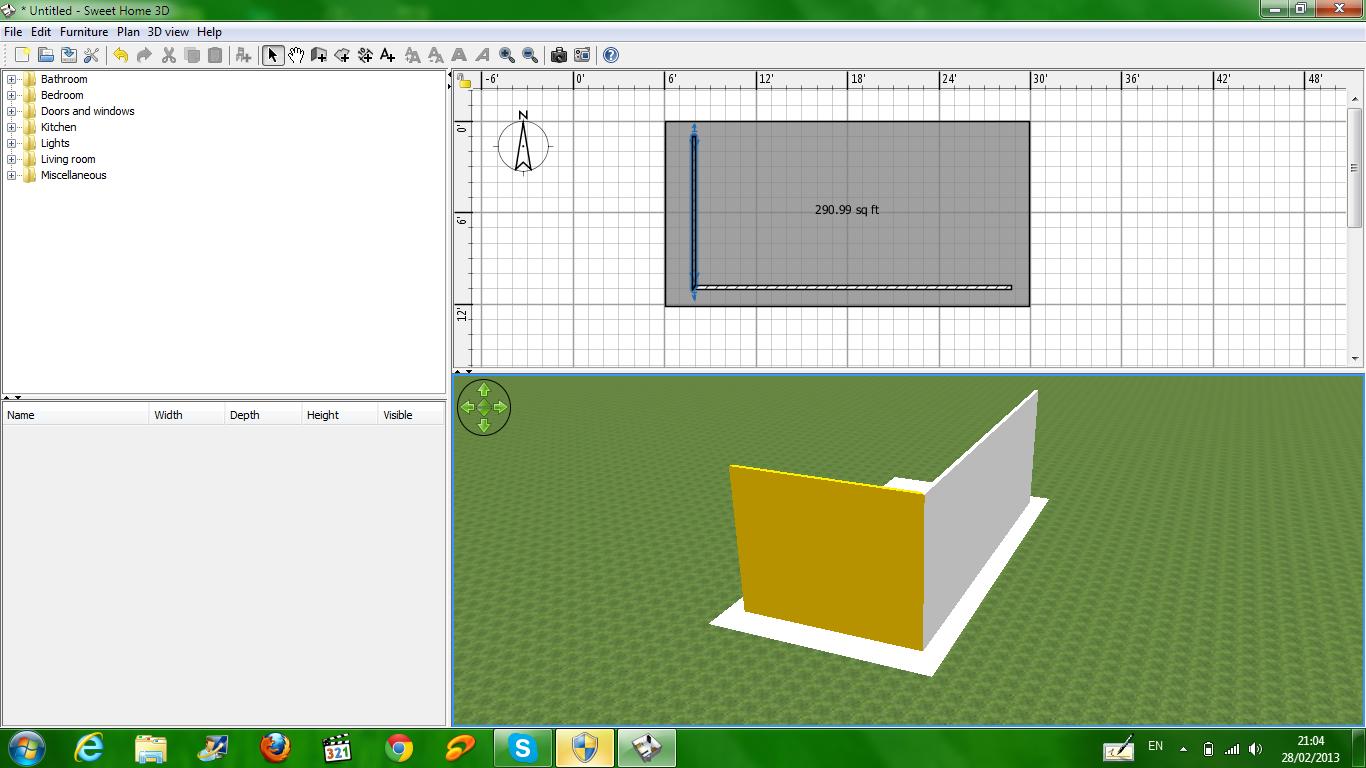tutorial sweet home 3d modifikasi dinding timkicau. Black Bedroom Furniture Sets. Home Design Ideas