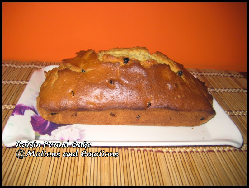 Motions And Emotions: Raisin Pound Cake