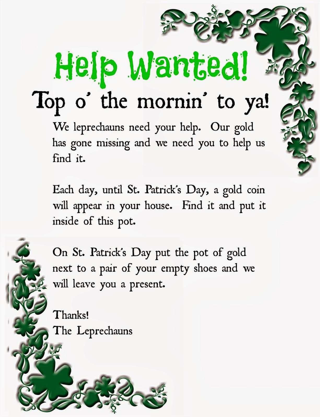 Pinning With Purpose Leprechaun Gold Treasure Hunt