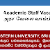 Vacancies in Eastern University of SriLanka