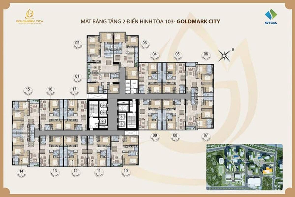 Tòa Ruby 3 dự án Goldmark City