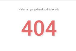 Kode HTML mengalihkan halaman 404 ke halaman tertentu