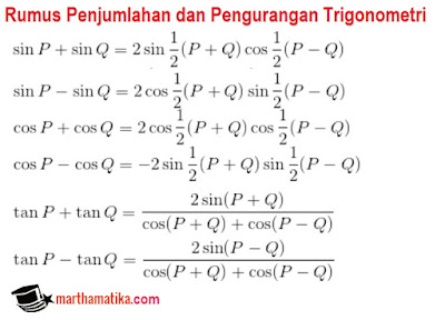 Contoh Soal Dan Penyelesaian Rumus Penjumlahan Trigonometri Tanya Soal