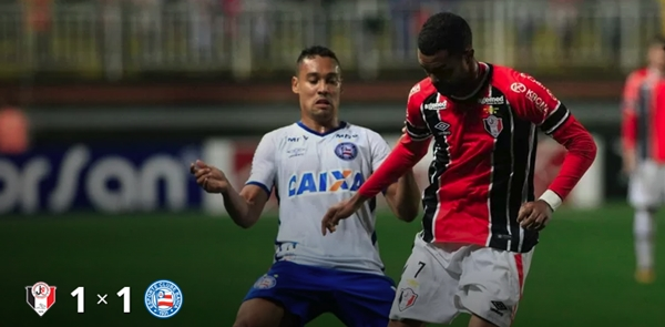 Joinville e Bahia empatam em Santa Catarina