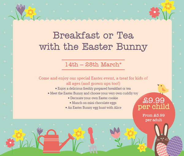 My thoughts on our Breakfast with the Easter bunny event in Worthing's Wyevale garden center