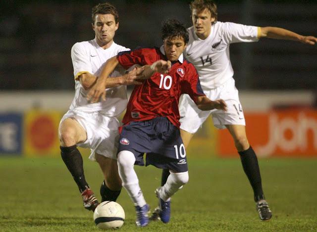 Chile y Nueva Zelanda en partido amistoso, 27 de abril de 2006