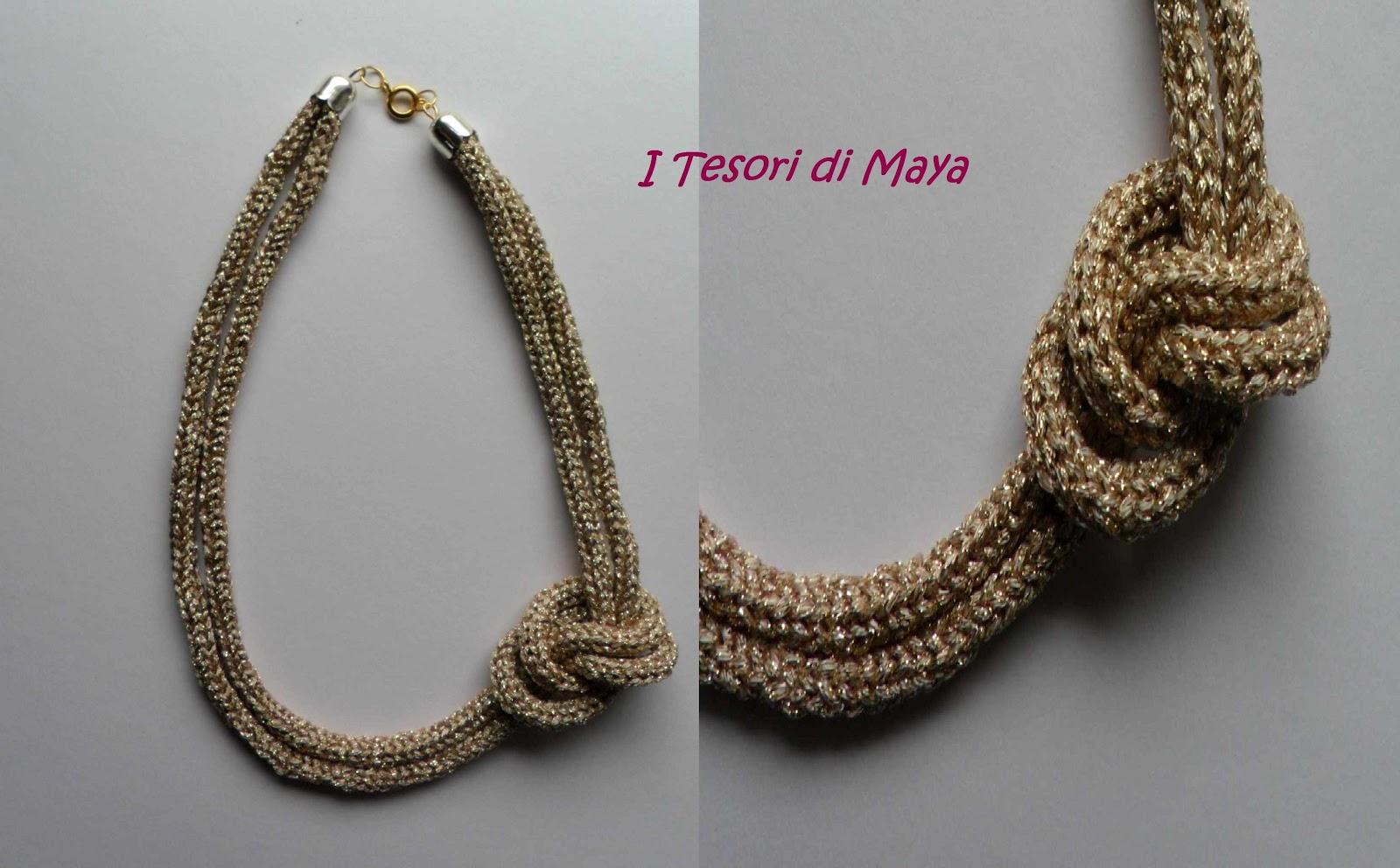 il più votato genuino ampia selezione di design elegante e grazioso I Tesori di Maya: Collana filatura laminata tricotin