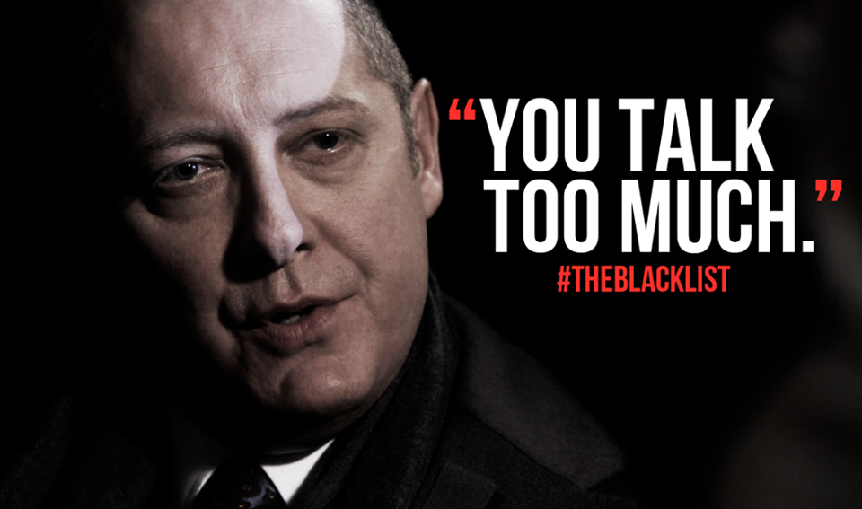 blacklist red quotes