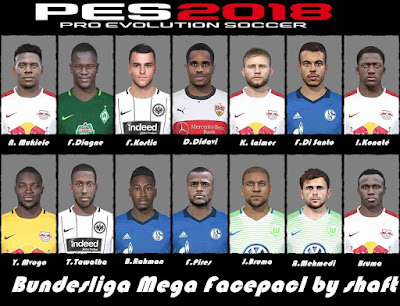 PES 2018 Bundesliga Mega Facepack by Shaft