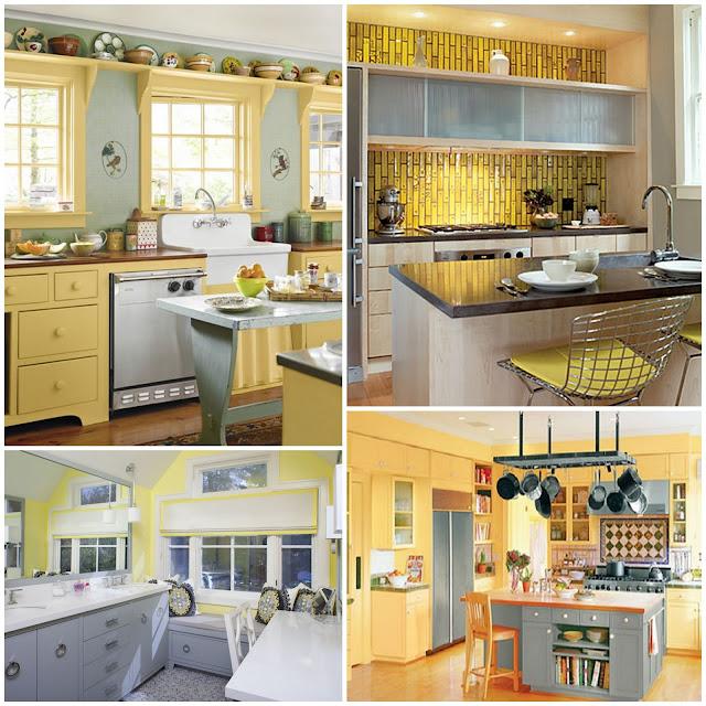 astonishing yellow kitchen walls grey cabinets | Passion, Pink, & Pearls: Becca's Yellow and Gray Kitchen ...