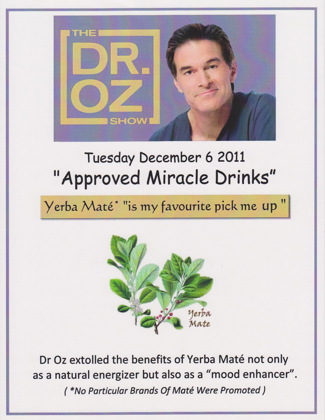 Gifts for Every Reason: Dr Oz approves Herbal Tea