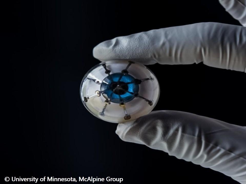 العلماء يصممون نماذج أولية من العين الالكترونية باستخدام الطابعة ثلاثية الأبعاد !