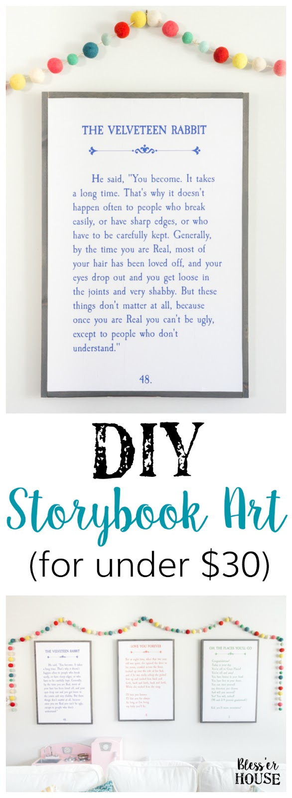 DIY Storybook wall art featured at Talk of the Town - www.knickoftime.net