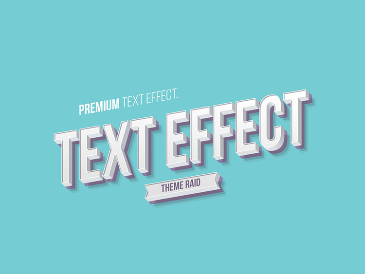Isometric Text Style Effect PSD