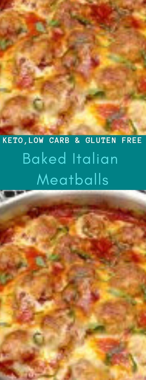 Baked Italian Meatballs - Keto, Low Carb & Gluten Free