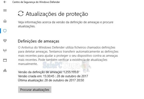 atualizar o windows defender manualmente