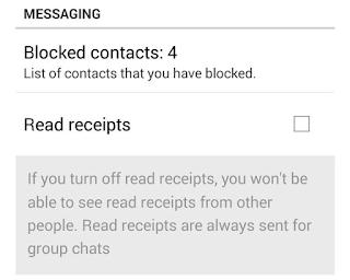 whatsapp setting page