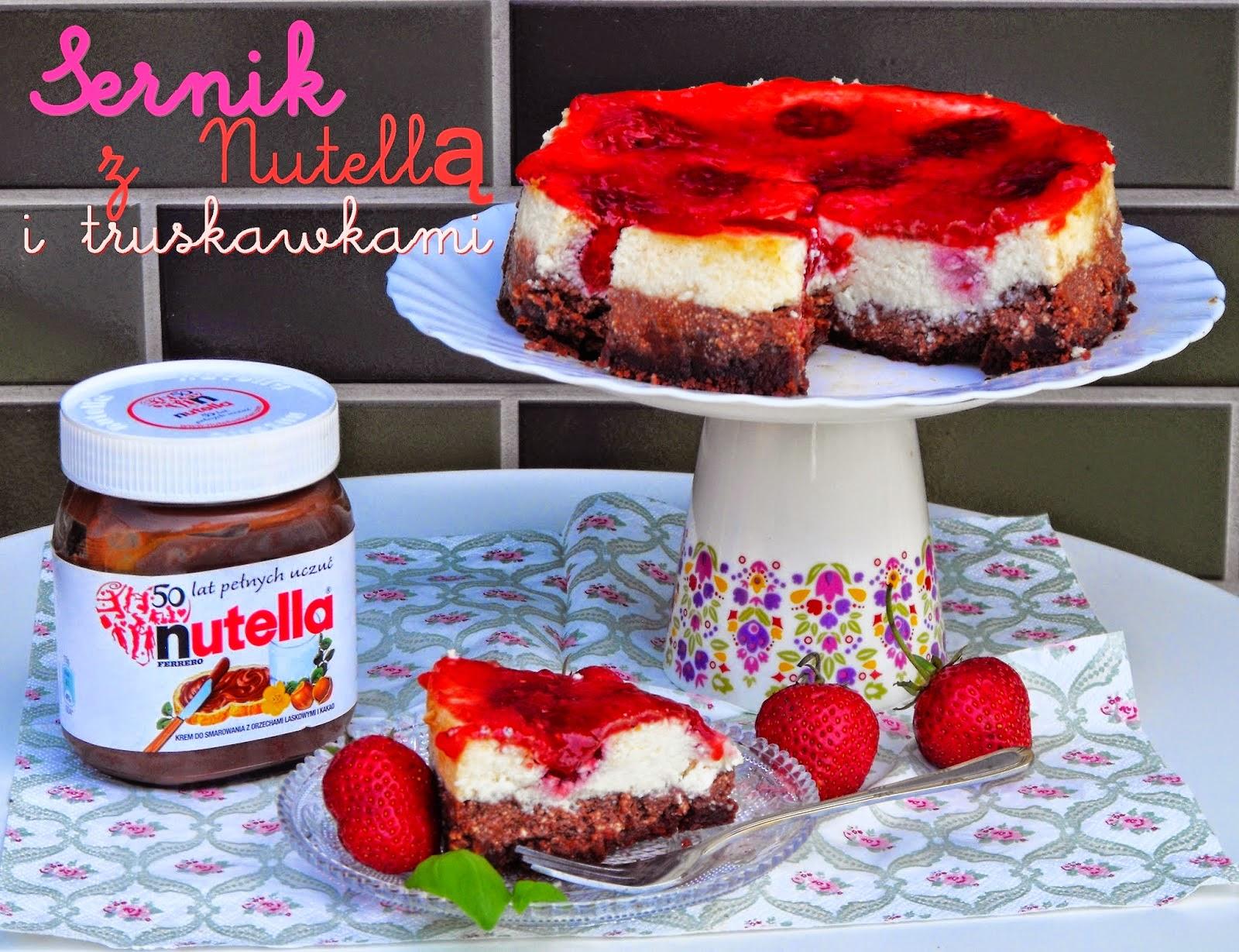 http://teczawsloiku.blogspot.com/2014/06/sernik-z-nutella-i-truskawkami.html