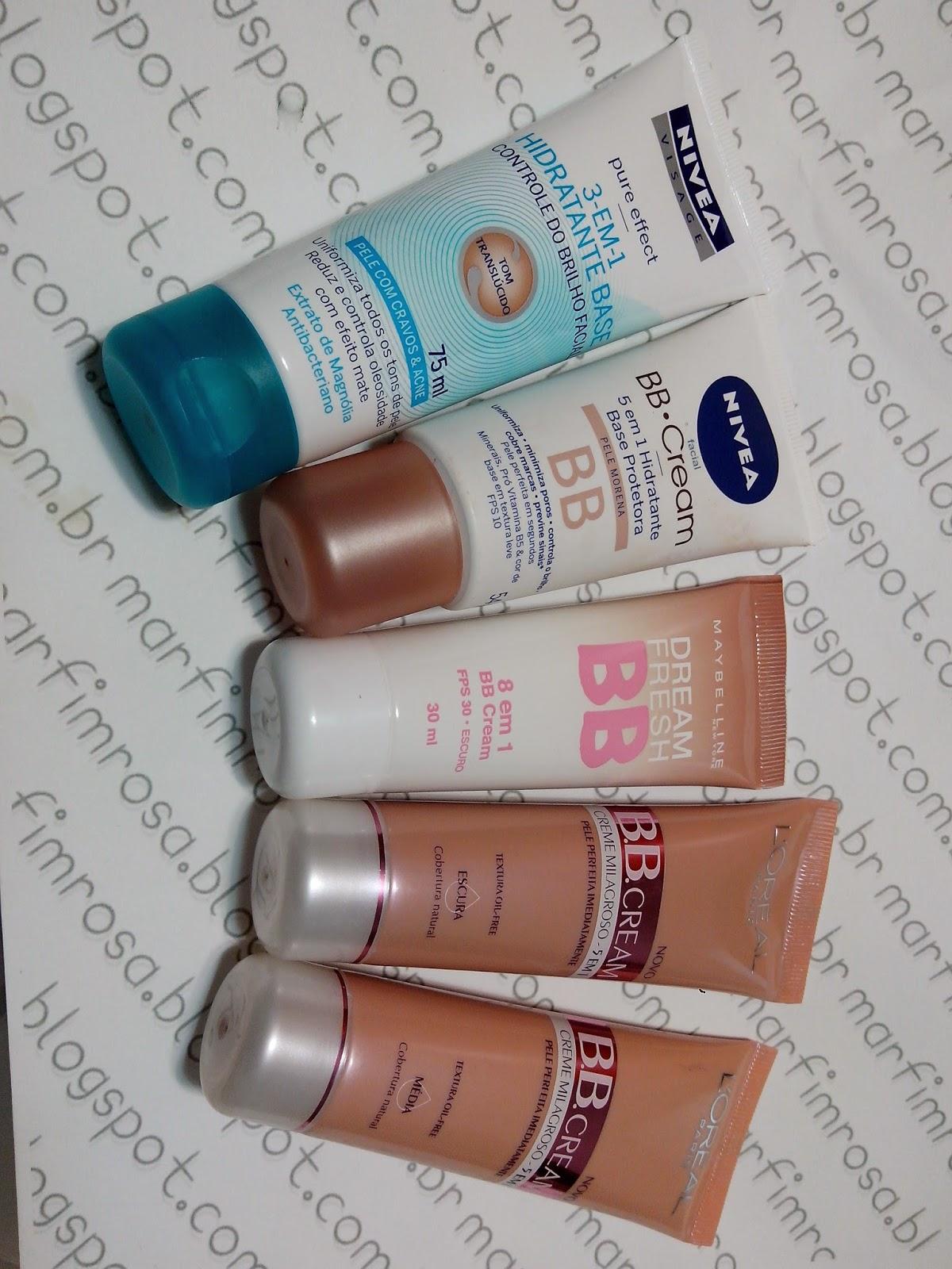 BB Cream de Farmácias: L'oreal X Nívea X Maybelline resenha
