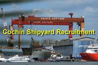CSL Recruitment cochinshipyard.com Apply Online Application Form