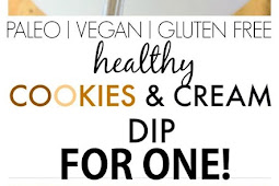 Healthy Cookies and Cream Dip for One
