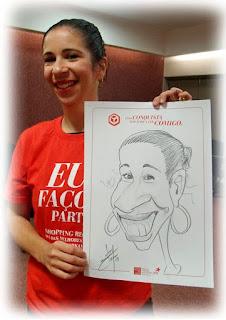 serviços de caricaturista para shopping