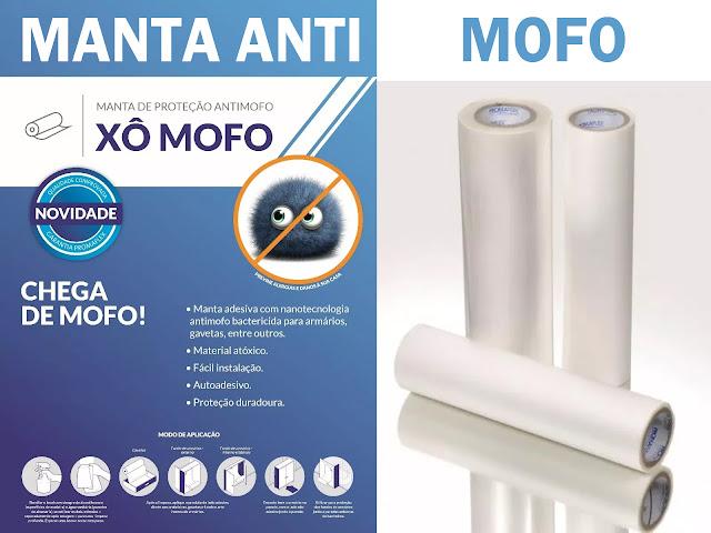 Manta Antimofo Xô-Mofo para móveis e paredes