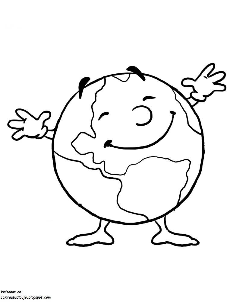 COLOREA TUS DIBUJOS: Planeta tierra para colorear e imprimir