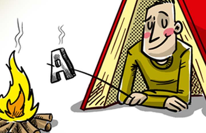 """Líneas y Letras, """"El refugio"""", viñeta de humor gráfico de Nadim"""