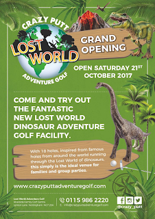Crazy Putt Lost World Adventure Golf course opening at Riverside Golf Centre in Nottingham
