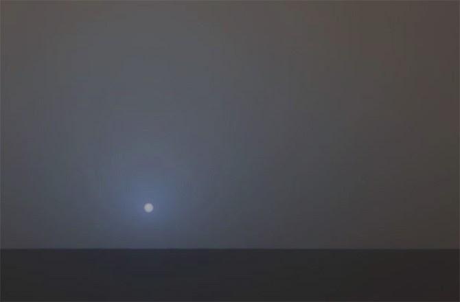 por do sol em marte - opportunity sonda
