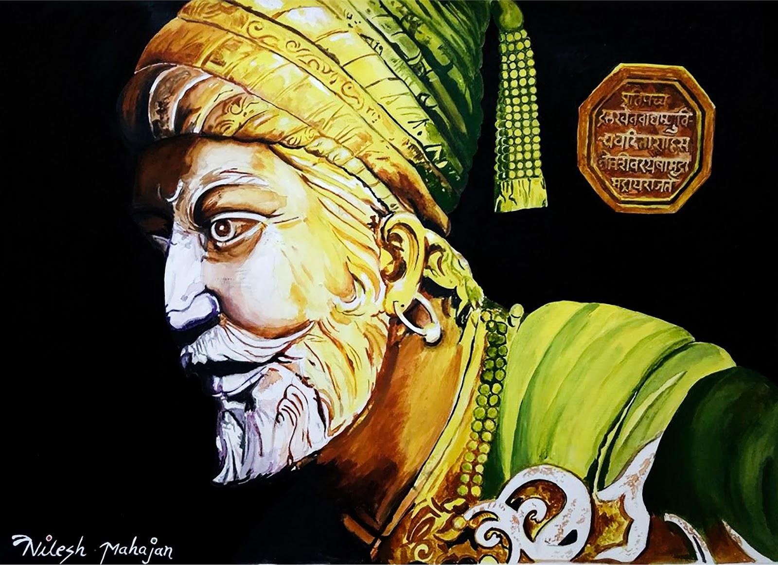 Sivaji Maharaj: Chatrapati Shivaji Maharaj Acrylic Painting