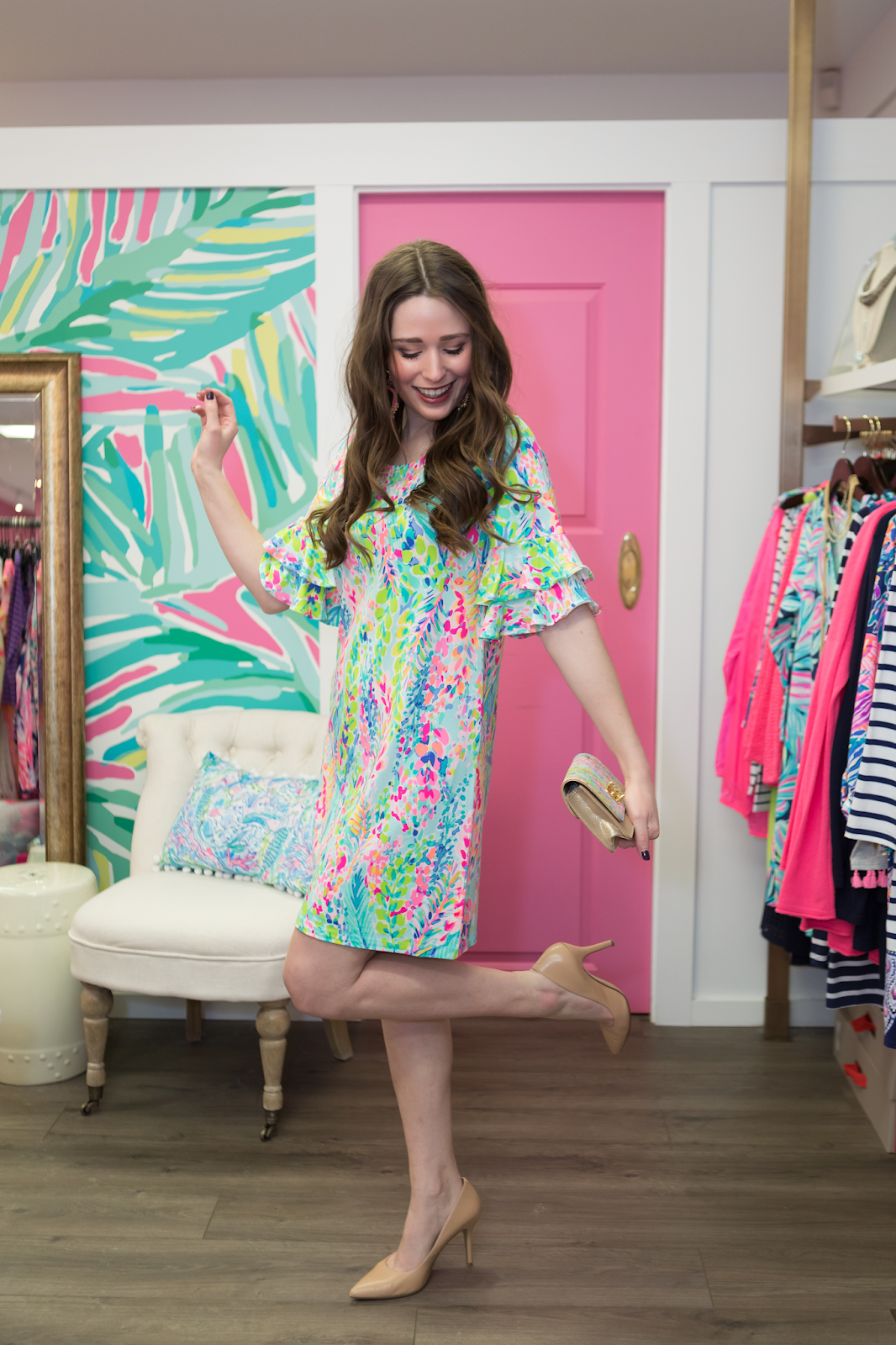 Wearing Lilly Pulitzer for Bridal Shower