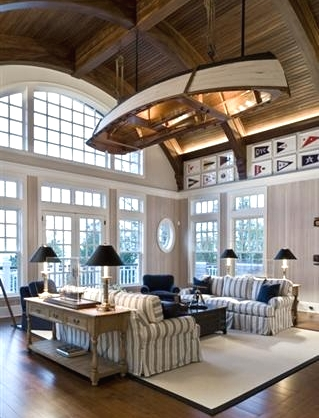 boat on ceiling home decor idea