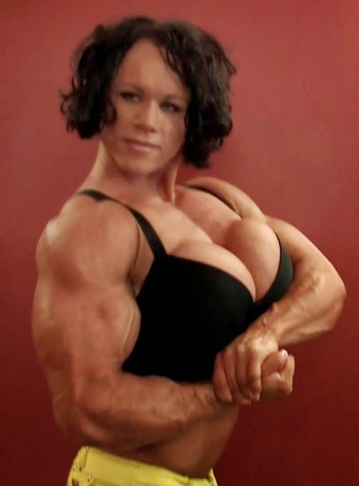 That huge female bodybuilder aleesha young about still