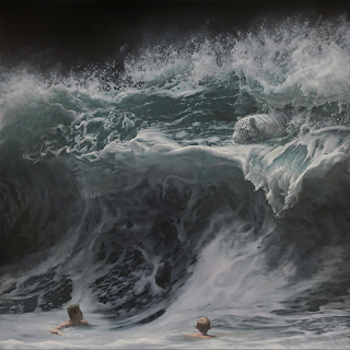 Green Pear Diaries, arte, pintura, Joel Rea, Brave this Storm