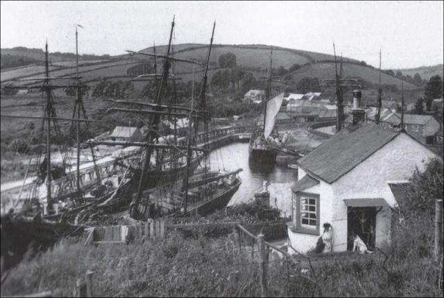 Vintage photo from 1900 of Pentewan, Cornwall