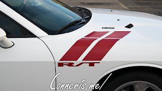 Dodge Challenger RT Red War Stripes
