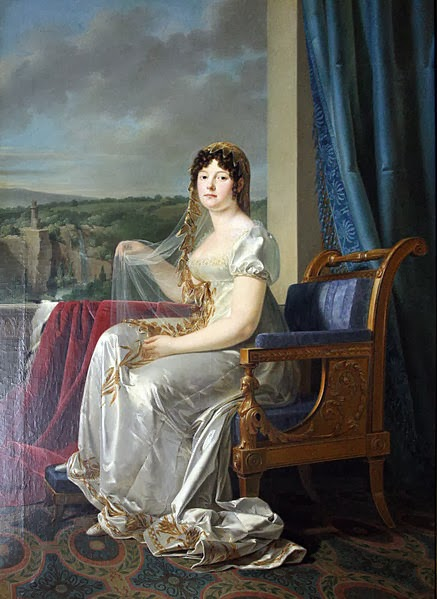 Wedding portrait of Catharina of Württemberg by Johann Baptist Seele, 1807