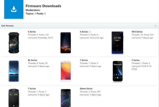 Firmwares dispositivos Doogee