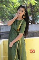 Akshitha cute beauty in Green Salwar at Satya Gang Movie Audio Success meet ~  Exclusive Galleries 020.jpg