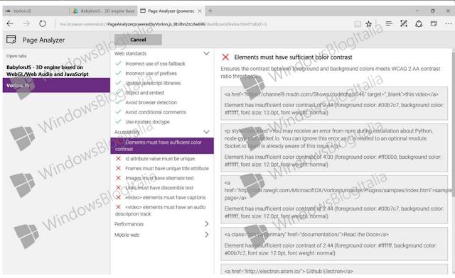 Prime estensioni per Microsoft Edge nello Store di Windows 10