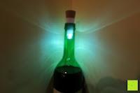 Licht in Flasche: GHB Tischlampe LED Beleuchtung Bottle Light Flaschenlicht Kork Wiederaufladbares USB LED Lampe inkl. Akku 2 er Set f¨¹r Party Garten Bar Weihnachten [Energieklasse A+] [Energieklasse A+]