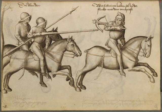 Image result for mounted crossbowmen