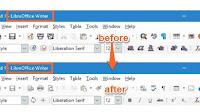 LibreOffice con lo stesso aspetto e Menù di Microsoft Office