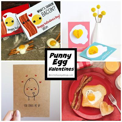 Punny Egg Valentines @michellepaigeblogs.com