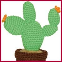 Cactus Nopal amigurumi