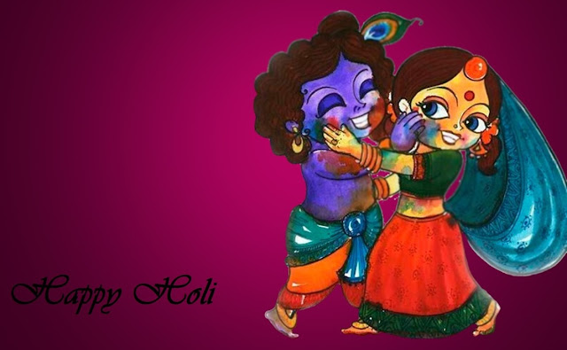Happy Holi Images With Radha Krishna Free Download