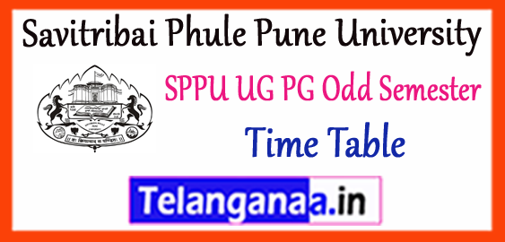 SPPU Savitribai Phule Pune University 1st 3rd 5th Semester UG PG Exam Time Table 2017-18