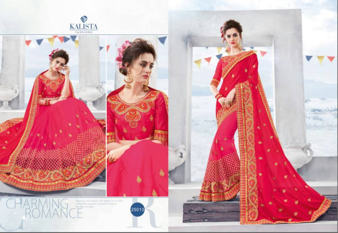 Khoobsurat Vol 2 – Popular Fashion Wear Embroidery Designer Saree